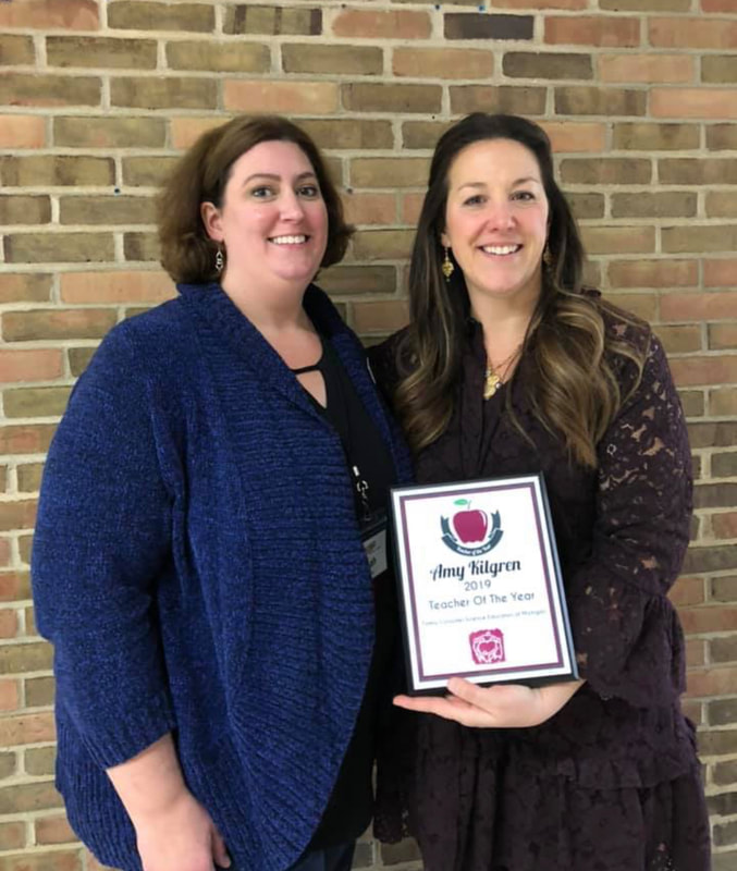 Leah Brinker on the left; our FCSEM President is pictured with Amy Kilgren, our 2019 FCSEM Teacher of the Year.